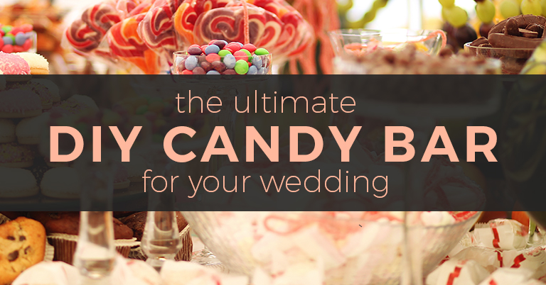 DIY candy bar buffet for wedding